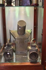 Sale 8189 - Lot 141 - Railway Hand Lamps with a Stationary Example