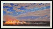 Sale 8301 - Lot 557 - Tim Storrier (1949 - ) - Starlight on the Plain (night coal) 50.5 x 102cm
