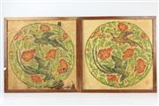 Sale 8410 - Lot 78 - Chinese Pair of Panels