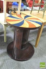 Sale 8418 - Lot 1099 - Inlaid Occasional Table w Shelf Below