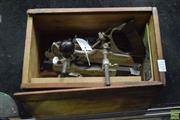 Sale 8550 - Lot 1110 - Stanley No. 45 Compound Plane with Pieces (manual & case in box)
