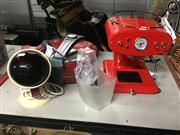 Sale 8759 - Lot 2161 - Banzer Pizza Maker, a Red Heat Lamp with a French CEW Coffee Machine (3)