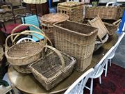Sale 8817 - Lot 1038 - Large Collection Of Wicker & Cane Baskets