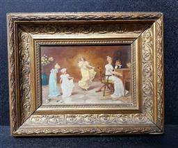 Sale 9208 - Lot 2077 - ARTIST UNKNOWN - Dancing in the Drawing Room 13 x 20 cm (frame: 27 x 33 x 5 cm)