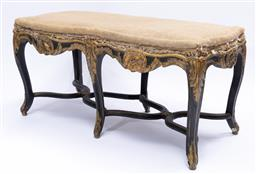Sale 9200P - Lot 85 - A deconstructed French ottoman, Height 50cm x Width 104cm Depth 42cm