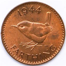 Sale 9246 - Lot 81 - A British 1944 uncirculated farthing