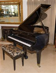 Sale 7984 - Lot 40 - An ebonised baby grand piano by Howard.