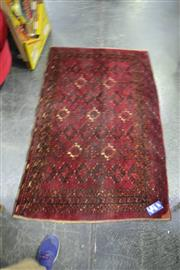Sale 8039 - Lot 1044 - Hand Woven Persian Rug In Red Tones With Tessellating Medallion Pattern(97x160cm)