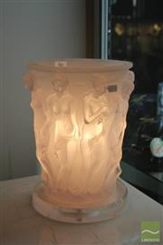 Sale 8217 - Lot 86 - Figural Frosted Lamp