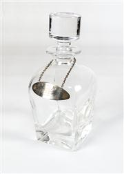 Sale 8342A - Lot 82 - A crystal decanter with HMSS presentation collar