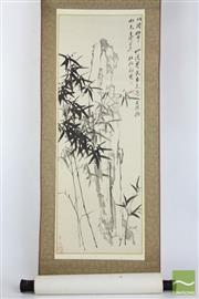 Sale 8490 - Lot 88 - Chinese Scroll Featuring Bamboo