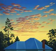 Sale 8510 - Lot 519 - Guy Gilmour (1955 - ) - Untitled (Blue Rooftop) 91.5 x 101cm