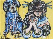 Sale 9062A - Lot 5042 - Yosi Messiah (1964 - ) - My Baby Dog 75 x 100 cm