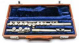 Sale 9168 - Lot 458 - Antique F.E Olds And Sons ambassador silver body flute with original case