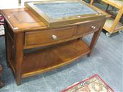 Sale 7933A - Lot 1162 - Bow Front Hall Table with 2 Drawers