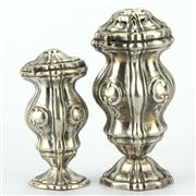 Sale 8214 - Lot 46 - Austro-Hungarian Silver Pair of Graduated 13 Loth Havdalah Spice Containers