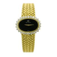 Sale 8221A - Lot 3 - 18ct Gold SIR Jewel Watch Swiss; featuring 1.5ct total diamonds, total weight is 65.2g, minor scratches to crystal
