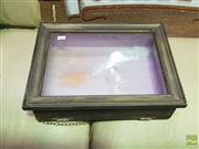 Sale 8447 - Lot 1092 - Glass Front Bible Box