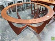 Sale 8493 - Lot 1053 - Circular Teak G-Plan Coffee Table with Glass Top