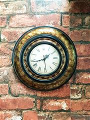 Sale 8500A - Lot 55 - A decorative round wall clock - Condition As NEW (AA Batteries included) - Size: 28cm diameter