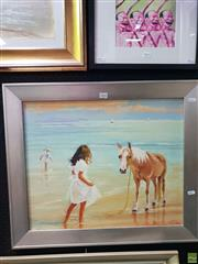 Sale 8645 - Lot 2042 - Marcia Rea - Oscar & Lucinda, oil on canvas board, 59 x 69cm, signed lower