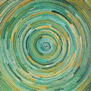 Sale 8862A - Lot 501 - Bernadine Johnson Kamara (c1974 - ) - Circle 60 x 58cm (stretched and ready to hang)