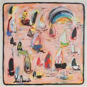 Sale 8880A - Lot 5001 - Yosi Messiah (1964 - ) - Pink Harbour 85 x 85 cm