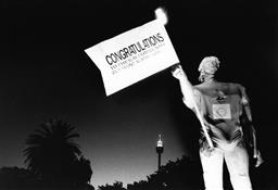 Sale 9082A - Lot 5013 - Out Front Against AIDS, Sydney Gay and Lesbian Mardi Gras Parade (1989), 25 x 17 cm, silver gelatin, Photographer: Steve Christo
