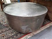 Sale 8912 - Lot 1045 - Large Round Aluminium Coffee Table