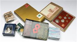 Sale 9144 - Lot 105 - A Collection of proof and mint coins incl (1988 proof Aus coins, 1993 $1 proof, 1996 $1 , Bradman $5 coin, 1995 coin set & 7 $1 coins