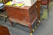 Sale 7987A - Lot 1140 - Pine Blanket Chest on Stand