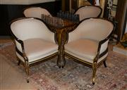 Sale 7984 - Lot 43 - A set of four Empire style tub chairs.