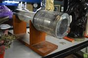 Sale 8214 - Lot 2343 - English Electric Valve Co. Ltd. Image Orthicon Camera Tube on Stand with a Mounted Ostrich Egg