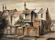 Sale 8475A - Lot 5050 - Essie Nangle (1915 - 2006) - Old Houses, Sir John Young Crescent 44 x 59cm