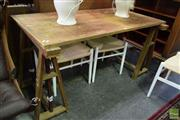 Sale 8542 - Lot 1073 - Unusual French Draftsman Table with Adjustable Top