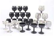Sale 8694 - Lot 17 - Large Collection Of Marble Wine Cups