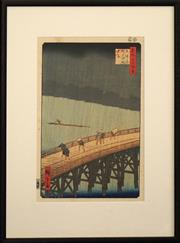 Sale 8734A - Lot 24 - Utagawa Hiroshige (1797 - 1858) - Views of Edo 52.5 x 40 (frame size)