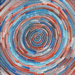 Sale 9154JM - Lot 5082 - BERNADINE JOHNSON KAMARA (c1974 - ) Circle acrylic on canvas 60 x 60 cm (stretched and ready to hang) certificate of authenticity in...