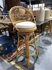Sale 8901F - Lot 1043 - Pair of Cane Bar Stools