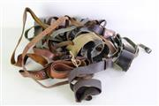 Sale 8952M - Lot 612 - A Collection Of Leather Belts And Straps, Some With Belt Buckles Incl Soviet Naval