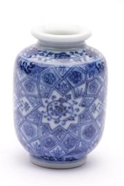 Sale 9032C - Lot 712 - Small Chinese Blue And white Bud Vase H: 8cm