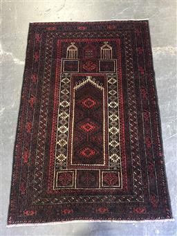 Sale 9126 - Lot 1253 - Persian hand knotted Baluchi (130 x 84cm)