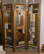 Sale 7984 - Lot 44 - A Deco Revival three fold screen. Height 214cm