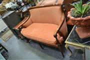 Sale 8054 - Lot 1037 - Timber Framed Fabric Covered 2 Seater Settee