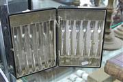 Sale 8283 - Lot 70 - Walker & Hall Silver Plated Fruit Cutlery Setting in Fitted Case