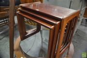Sale 8326 - Lot 1098 - Superb Rosewood Nest of Three Tables