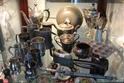 Sale 8362 - Lot 236 - Pewter Mugs with Other Metal Wares Incl Oil Can