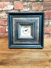 Sale 8500A - Lot 56 - A decorative table top square clock on stand - Condition: NEW (AA Batteries included) - Measurements: 20cm x 20cm