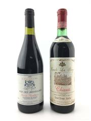 Sale 8611W - Lot 90 - 2x Old World Reds - 1x 1986 Chinati, 1x 1999 Costieres de Nimes