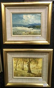 Sale 8563T - Lot 2018 - R. Dargan (2 works) Landscape Scenes, oils on board, 14 x 19cm and signed lower right, each